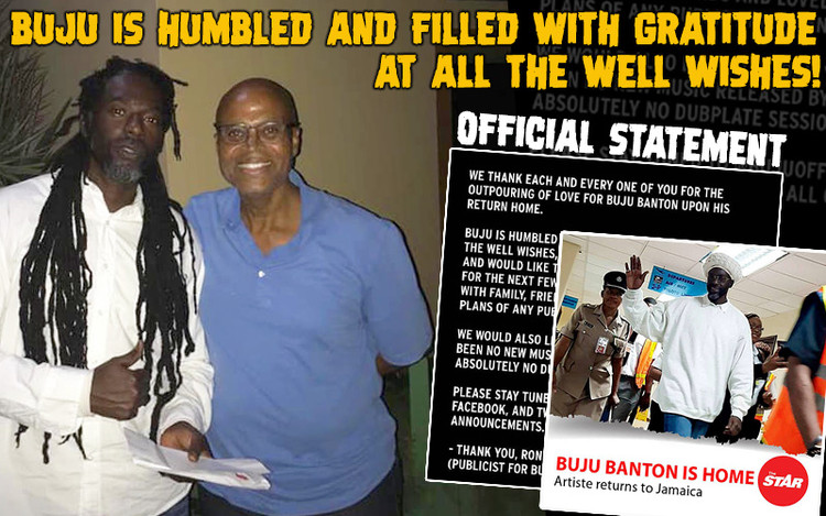 Buju Banton Back Home in Jamaica - Official Statement