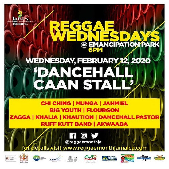 Reggae Wednesdays - Dancehall Caan Stall 2020
