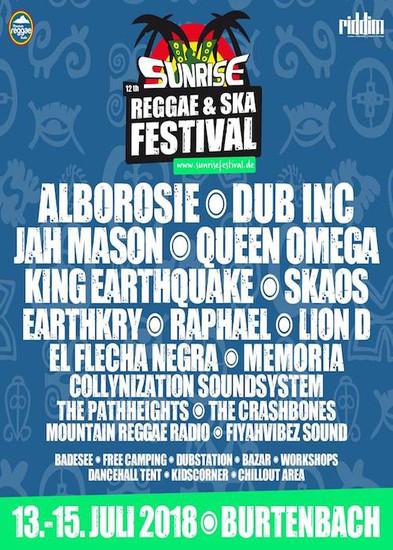 Sunrise Reggae & Ska Festival 2018
