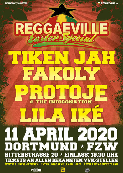 Cancelled: Reggaeville Easter Special - Dortmund 2020