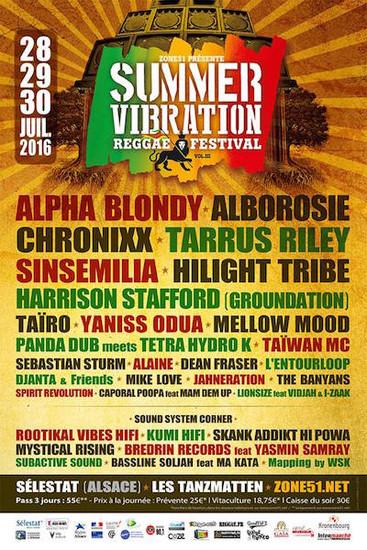 Summer Vibration Reggae Festival 2016