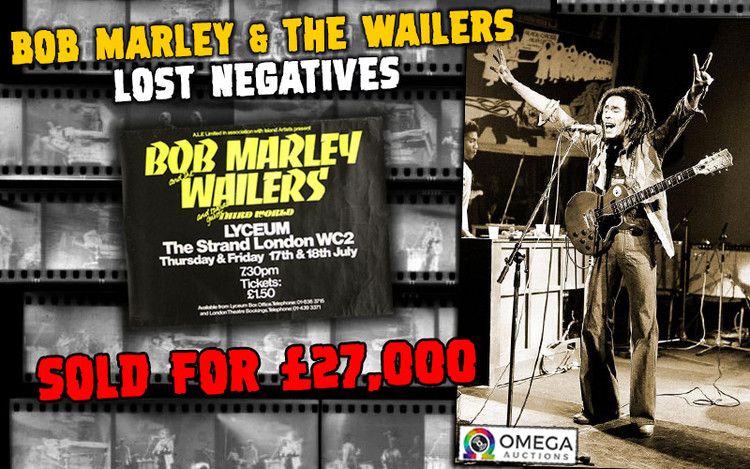 Lost Negatives - Bob Marley & The Wailers Photo Collection Auctioned for £27,0000