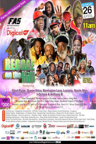 Barbados Reggae On The Hill 2015