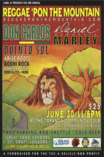 Reggae Pon The Mountain 2012