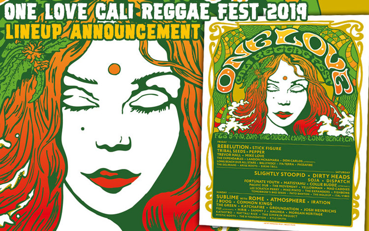 One Love Cali Reggae Fest 2019 - Lineup Announcement