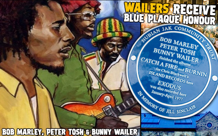 Bob Marley, Peter Tosh & Bunny Wailer - Wailers Receive Blue Plaque in London 2019