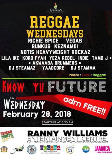 Reggae Wednesdays - Know Yu Future 2018