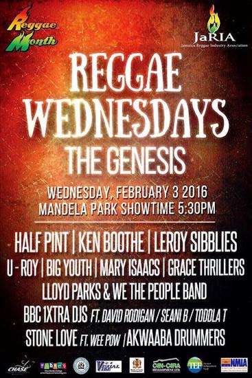 Reggae Wednesdays - The Genesis 2016