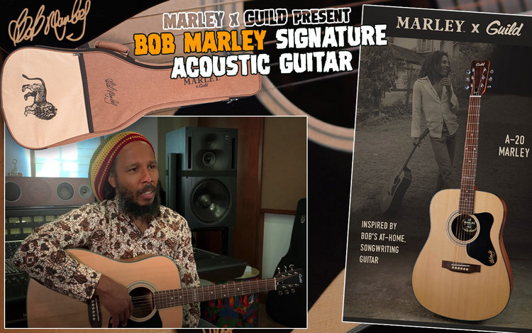 Marley x Guild Present Bob Marley Signature Acoustic Guitar