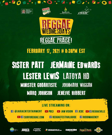 Reggae Wednesdays - Reggae Praise! 2021