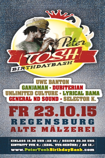 Peter Tosh Birthday Bash 2015