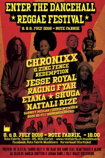 Enter The Dancehall Reggae Festival 2016