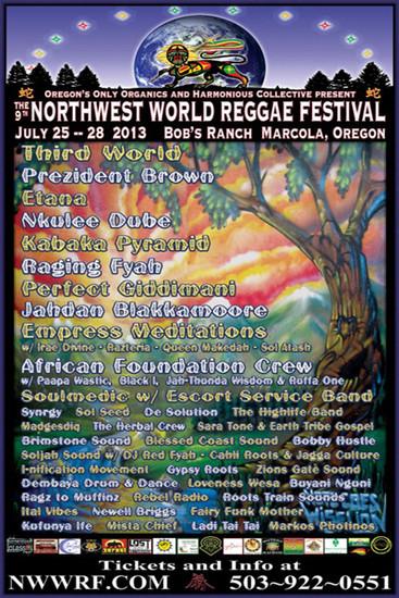 NW World Reggae Festival 2013
