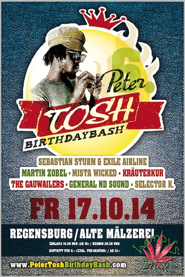 Peter Tosh Birthday Bash 2014