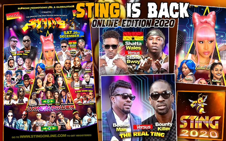 Sting is Back - Online Edition 2020 with Beenie Man, Bounty Killer, Koffee & Cardi B