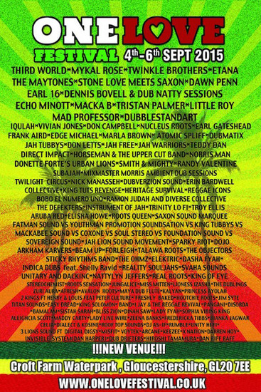 One Love Festival 2015 - UK