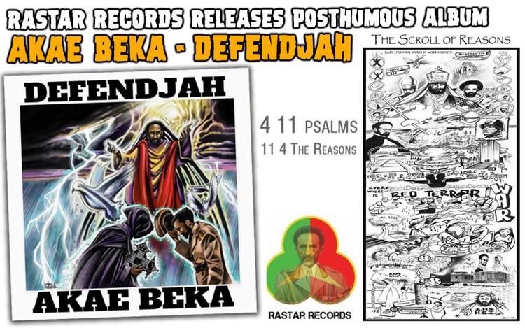 DEFENDJAH - Rastar Records Releases Posthumous Akae Beka Album