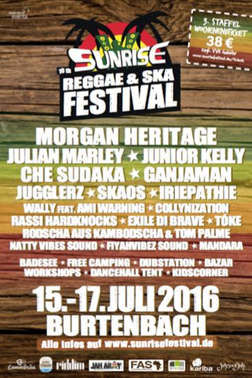 Sunrise Reggae & Ska Festival 2016