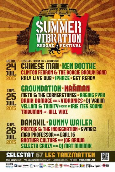Summer Vibration Reggae Festival 2015