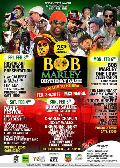 Bob Marley Birthday Bash 2017 - Negril