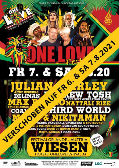 CANCELLED: One Love Reggae Festival - Austria 2020
