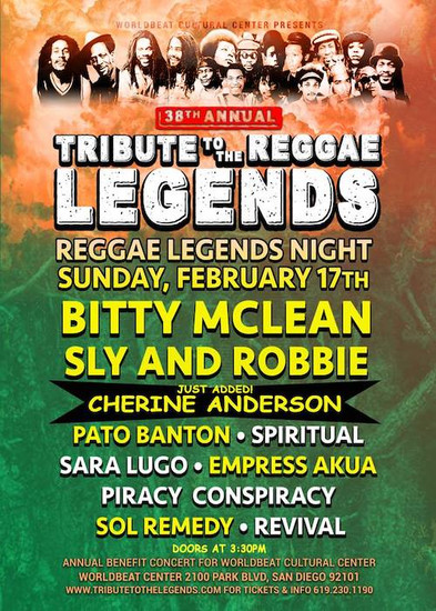 Tribute To The Reggae Legends 2019