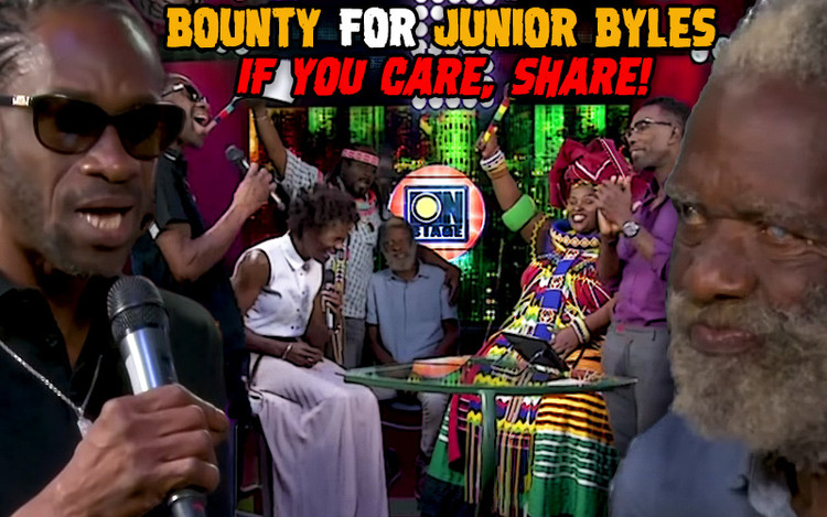 Bounty for Junior Byles - If You Care, Share!