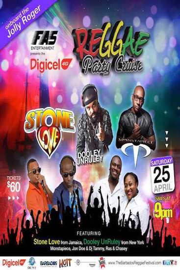 Barbados Reggae Party Cruise 2015