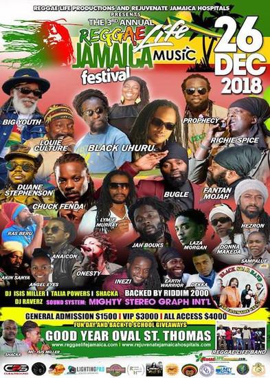 Reggae Life Jamaica Fest 2018