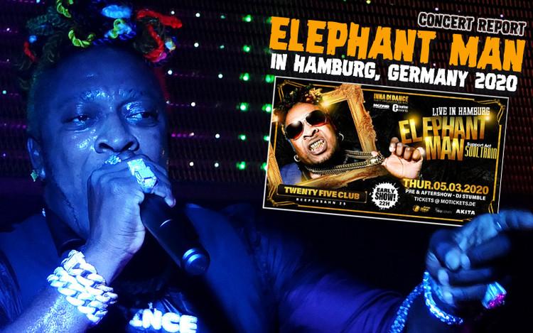 Concert Review: Elephant Man @ Twentyfive Club in Hamburg, Germany 2020