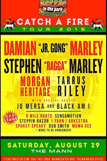 Reggae In The Park 2015