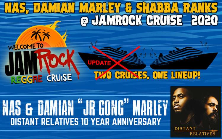 Nas & Damian Marley, Shabba Ranks @Jamrock Cruise 2020 - Second Cruise Added!