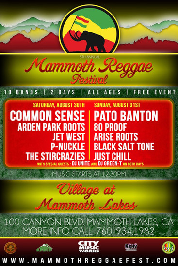 Mammoth Reggae Festival 2014