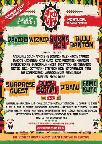 Afro Nation - Portugal 2019