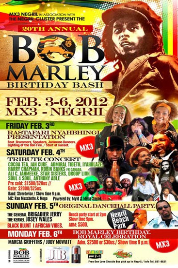 Bob Marley Birthday Bash 2012