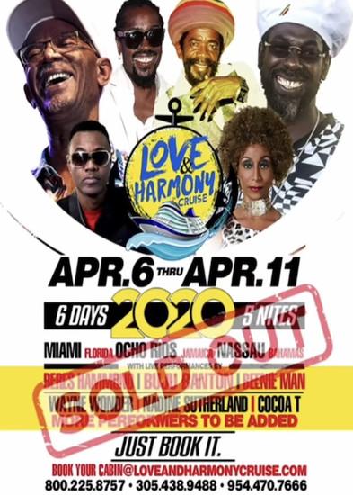 Postponed: Love & Harmony Cruise 2020