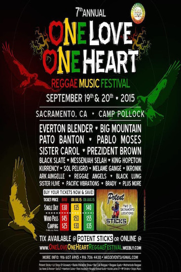 One Love One Heart Reggae Music Festival 2015