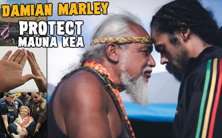 Damian Marley Stands With Native Hawaiians @ Mauna Kea Telescope Protests