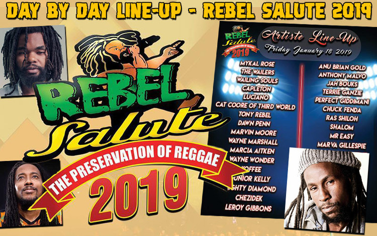 Jah Cure & Dre Island added to Rebel Salute 2019 - Line-Up by Day