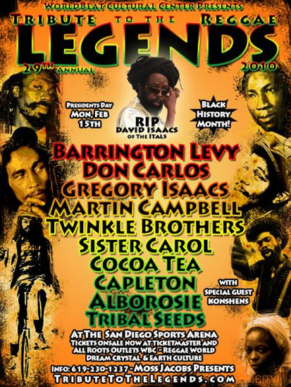 Tribute To The Legends 2010