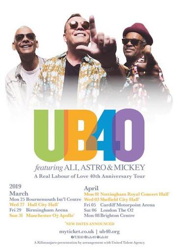 UB40 feat. Ali, Astro & Mickey 3-25-2019