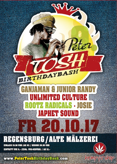 Peter Tosh Birthday Bash 2017