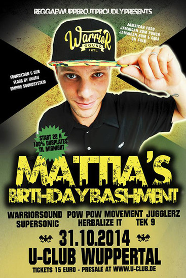 Mattia's Birthday Bashment 2014
