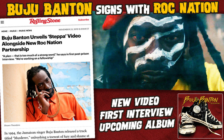 Buju Banton Signs with Jay-Z's Roc Nation and Launches Steppa Video