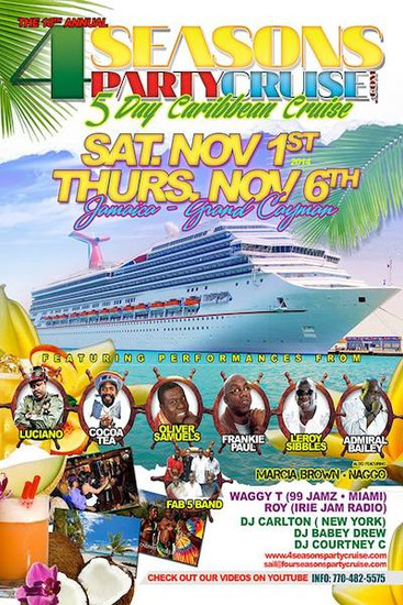 4 Seasons Party Cruise 2014