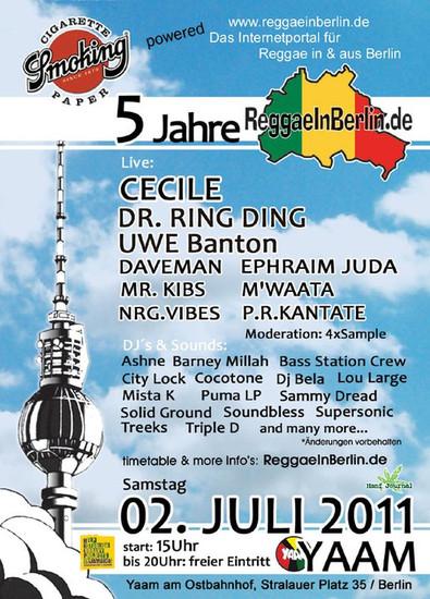 5 Jahre ReggaeInBerlin.de