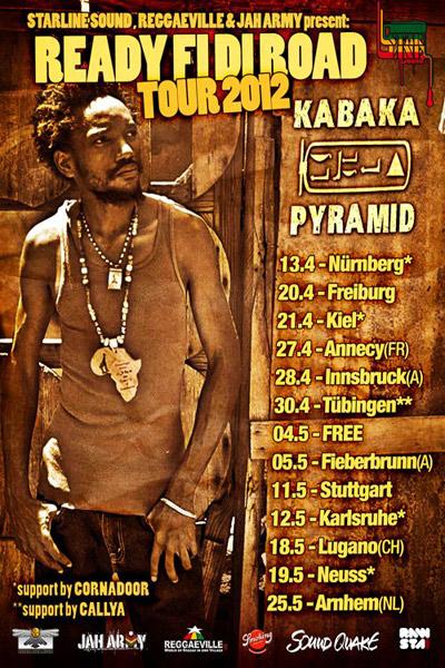 Kabaka Pyramid Tour Dates