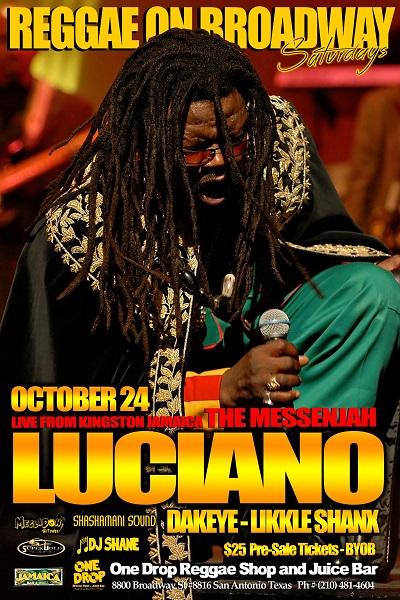 Reggae Artist Luciano Tour Dates