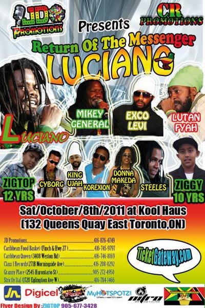 Luciano Reggae Artist Tour Dates