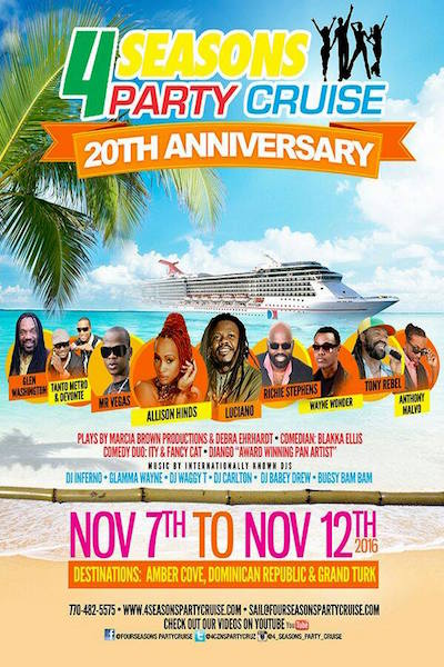 4 Seasons Party Cruise 2016